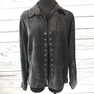 Christopher & Banks, velvet jacket, size L